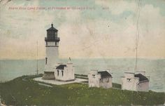 Beautiful 1910 Postcard of the North Head Lighthouse in the Columbia River in WA