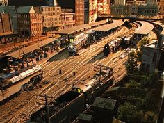 Singer Rod Stewart's private model railroad, dubbed Grand Street and Three Rivers Railroad... The level of craftsmanship is staggering