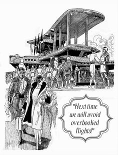 Overbooked Flights Postcard. Some vintage travel humor for the dedicated air traveler! https://www.zazzle.com/overbooked_flights_postcard-239721347754504550 #travel #card #postcard #humor #humour #airtravel