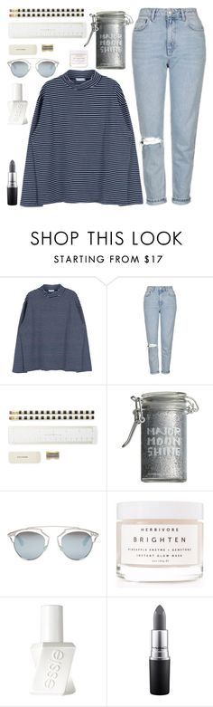"""A Jar Filled with Feelings"" by sweet-jolly-looks ❤ liked on Polyvore featuring Topshop, Kate Spade, Major Moonshine, Christian Dior, Herbivore, Essie, MAC Cosmetics, casual, stripes and topshop"