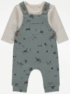 Dinosaur Print Dungarees and Bodysuit Outfit | Baby | George at ASDA Baby Boy Outfits, Kids Outfits, Baby George, Kids Tops, Body Suit Outfits, 2 Piece Outfits, Baby Boy Fashion, Dungarees, Future Baby
