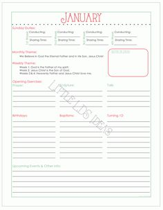 {Primary} 2015 Primary Presidency Planner Sheets