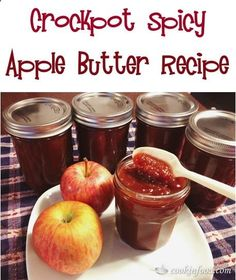 Crockpot Spicy Apple Butter Recipe! #slowcooker #crockpot #recipes