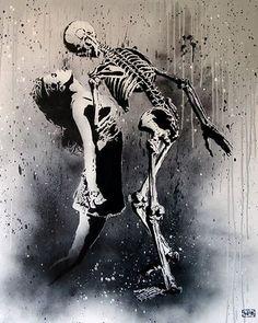 Foto: • ARTIST . GOIN •  ◦ La Danse Macabre ◦#streetart