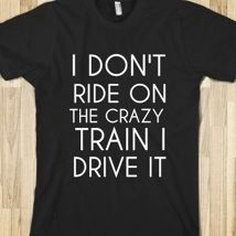 Crazy Train from Glamfoxx Shirts