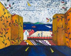 Colonial Harbour City, collage by Jane Hyder.
