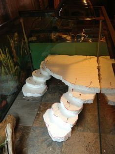 Things youll need 1 inch thick styrofoam sheet thingy they have them at hardware stores for 2 ish Grout color can be whatever you want Styrofoam safe glue Mod podge Water based waterproof. Turtle Habitat, Reptile Habitat, Reptile Room, Reptile Cage, Reptile Enclosure, Decor Terrarium, Leopard Gecko Habitat, Bearded Dragon Enclosure, Bearded Dragon Terrarium