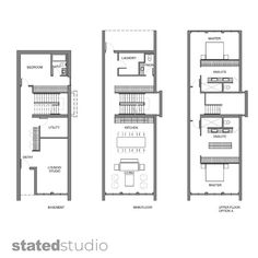 Town House Floor Plan, Narrow House Plans, Townhouse, Concept, Flooring, How To Plan, Contemporary, Studio, Space