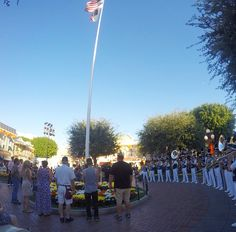 disneyland flag retreat ceremony veterans day 2016