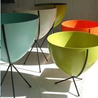 Retro Bullet Planters by Hip Haven  Love them!! Especially the tall in turquoise, the medium in orange and the small in chartreuse! Or, let's face it,  just one would be great :)