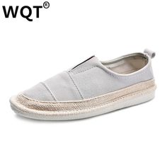 18.99$  Watch now - Chaussures Femmes 2017 Fashion Summer Slip On Canvas Shoes Women Breathable Flat-Bottomed Single Classic Women's Casual Shoes  #magazineonlinewebsite