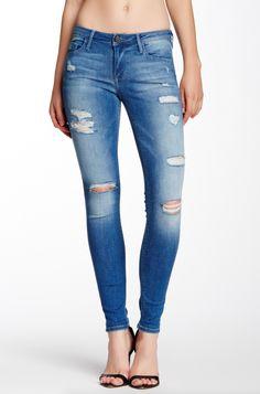 BLACK ORCHID Jude Mid Rise Distressed Super Skinny Jeans Pants Blue 28 $150 #59 #BlackOrchid #SlimSkinny