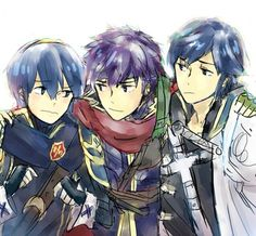 SSB- Marth, Ike, and Chrom //too bad that Chrom isn't a playable character//
