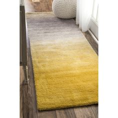 Kral Hand-Tufted Yellow Rug Wrought Studio Rug Size: Runner 76 x Contemporary Area Rugs, Contemporary Style, Modern Rugs, Lorraine, Yellow Area Rugs, Rugs Usa, Room Rugs, Online Home Decor Stores, Houses
