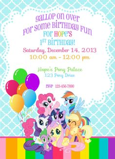 My Little Pony Birthday Invite by ckfireboots on Etsy, $10.00