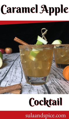 "Nothing says ""Fall"" like apples. This delicious drink uses caramel flavored vodka with apple cider to produce a taste just like a caramel apple! It's delicious hot or cold. You need this in your life!"