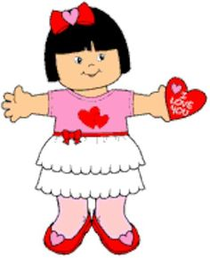 The Playtime Valentine Paper Doll is all decked out for the holiday. Kids can also dress another paper doll in boy's Valentine clothes to join in the cele