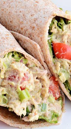 Avocado & Tuna Salad Wrap