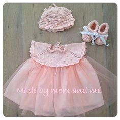 Dress, hat and shoes for a little prinses