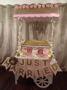 Candy Cart. Just Married. Pink Wedding. Sweets. Butterflies. Doves. Wedding Decoration. Wedding. Ferrero Rocher.