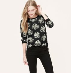 Rose Garden Sweater from Loft on Catalog Spree, my personal digital mall.