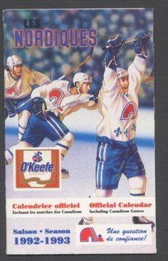 1992-93-Quebec-Nordiques-NHL-Hockey-Pocket-Schedule