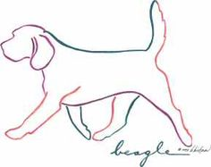 outline of beagle - Google Search