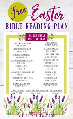Use this FREE printable Easter Bible Reading Plan to renew your heart and refresh your spirit. This is a great resource to read aloud as a family, too! Family Bible Study, Bible Study Plans, Bible Plan, Bible Study For Kids, Bible Reading Plans, Kids Bible, Easter Scriptures, Easter Bible Verses, Scriptures For Kids