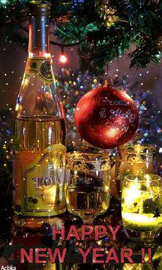 Xmas Gif, Merry Christmas Gif, Christmas Scenes, Merry Christmas And Happy New Year, Christmas Art, Christmas Holidays, Happy New Year Gif, Happy New Years Eve, Happy New Year Greetings