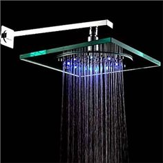 8 inch Contemporary Shower Head like the glass, the circle/square combo, and the lights.