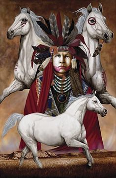 JD Challenger limited edition giclee for sale - Visions of the White Horse Spirit Native American Horses, Native American Paintings, Native American Pictures, Native American Artists, Native American History, Westerns, Eskimo, Indian Horses, Mandala