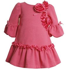 CLEARANCE: Bonnie Jean Knit Charmeuse Dress.  See More: http://stuffmomsandkidslikebest.blogspot.com