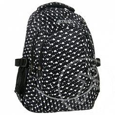 Jetbag fekete szívecskés tinédzser iskolatáska hátizsák 6f72407cf9