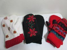 Mittens Recycled Sweater Fleece Lined Handmade Your choice by LuRuUniques on Etsy