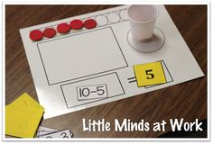 Little Minds at Work: Springing into Subtraction {freebies included}