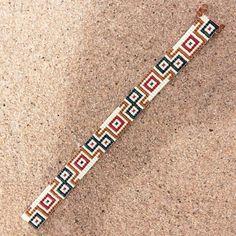 Safari del grano de la pulsera de Bohemia Boho Telar artesanal por PuebloAndCo:
