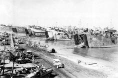 Lingayen Gulf, circa January 1945.