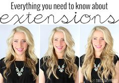 From whether or not you need extensions, how to put them in and where to get the best ones, check out this great review and video tutorial.  It seriously is everything you need to know about hair extensions! | Twist Me Pretty