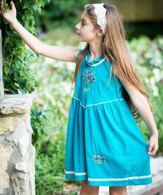 Look at this Little Cotton Dress Blue Micaela Dress - Infant, Toddler & Girls on #zulily today!