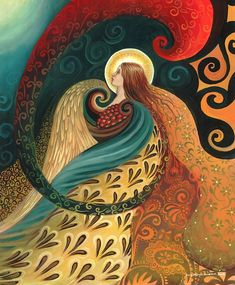 Feather godin 11 x 14 Fine Art Print heidense mythologie Art