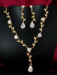 limitada la venta de joyería fina de oro chapado informal collar conjuntos de collar de la joyería de la marca