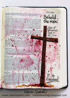 visual blessings: Bible Art Journaling - The Way of the Cross