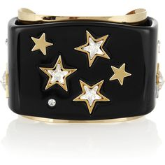 Dolce & Gabbana Brass and glass crystal star cuff ($230) found on Polyvore