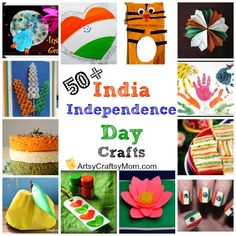 50 Ideas for India Republic Day or Independence Day - craft, Books, recipes
