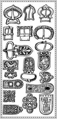 Belt badges, 8-13th centuries  Slavic symbolism - 8 page views remaining today