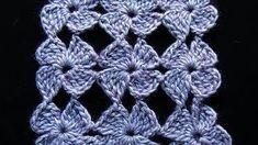 puntada crochet abanicos calado - YouTube