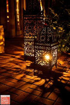 candle. moroccan