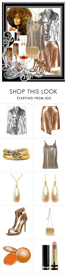"""""""Afternoon Tea"""" by ester-ludwig ❤ liked on Polyvore featuring Rejina Pyo, Boohoo, Golden Goose, Paco Rabanne, Forever Unique, Inge Christopher, Stila, Gucci and Lenox"""