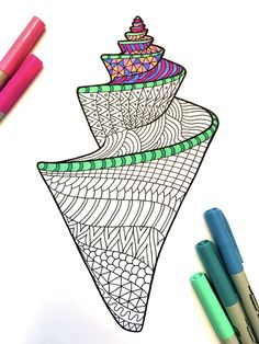 8.5x11 PDF coloring page of a seashell! Fun for all ages. Relieve stress, or just relax and have fun using your favorite colored pencils, pens, watercolors, paint, pastels, or crayons. Print on card-stock paper or other thicker paper (recommended). Original art by Devyn Brewer (DJPenscript). For personal use only. Please do not reproduce or sell this item. HOW TO DOWNLOAD YOUR DIGITAL FILES: https://www.etsy.com/help/article/3949?ref=help_search_result