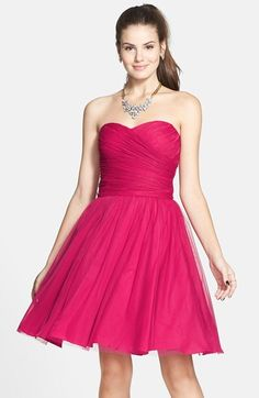 Free shipping and returns on a. drea Strapless Fit & Flare Dress (Juniors) at Nordstrom.com. Vivid candy color and a full, swingy skirt bring party-perfect style to an adorable fit-and-flare dress topped with a ruched, sweetheart bodice.